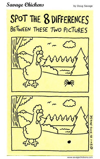 Spot The Differences from Savage Chickens