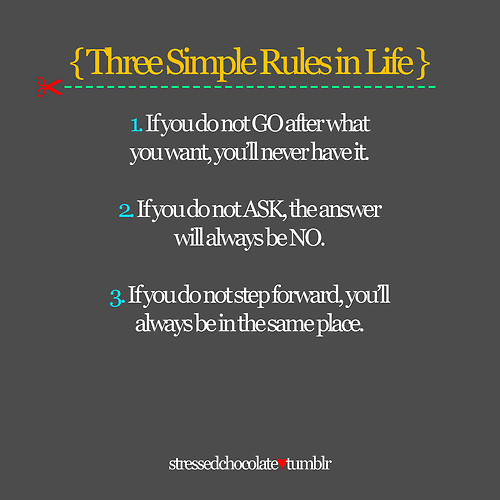 3 Simple Rules in life via i can read